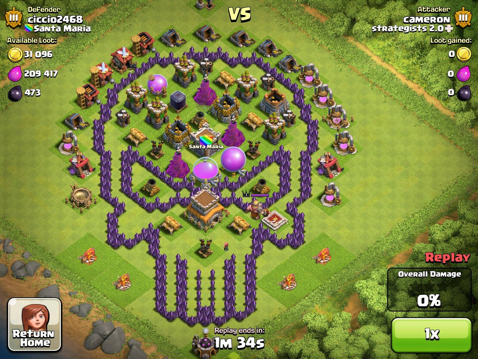 Kumpulan Base Keren Clash Of Clans Th 7 Kalaolaotm