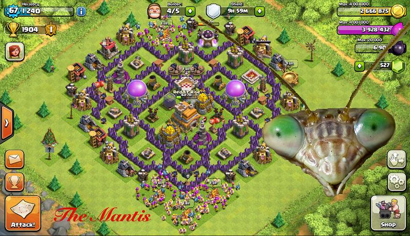 Base Coc Th 7 Keren 8